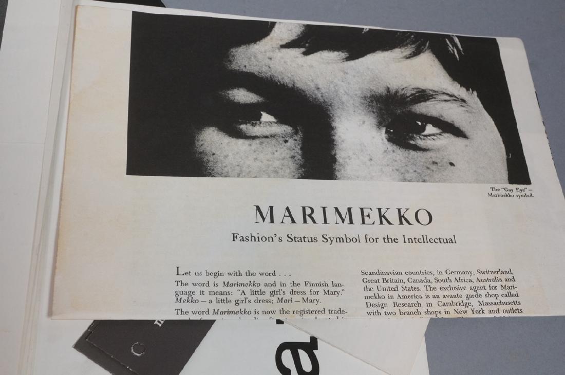 Lot Of Modern Design Ephemera. MARIMEKKO Textiles - 4
