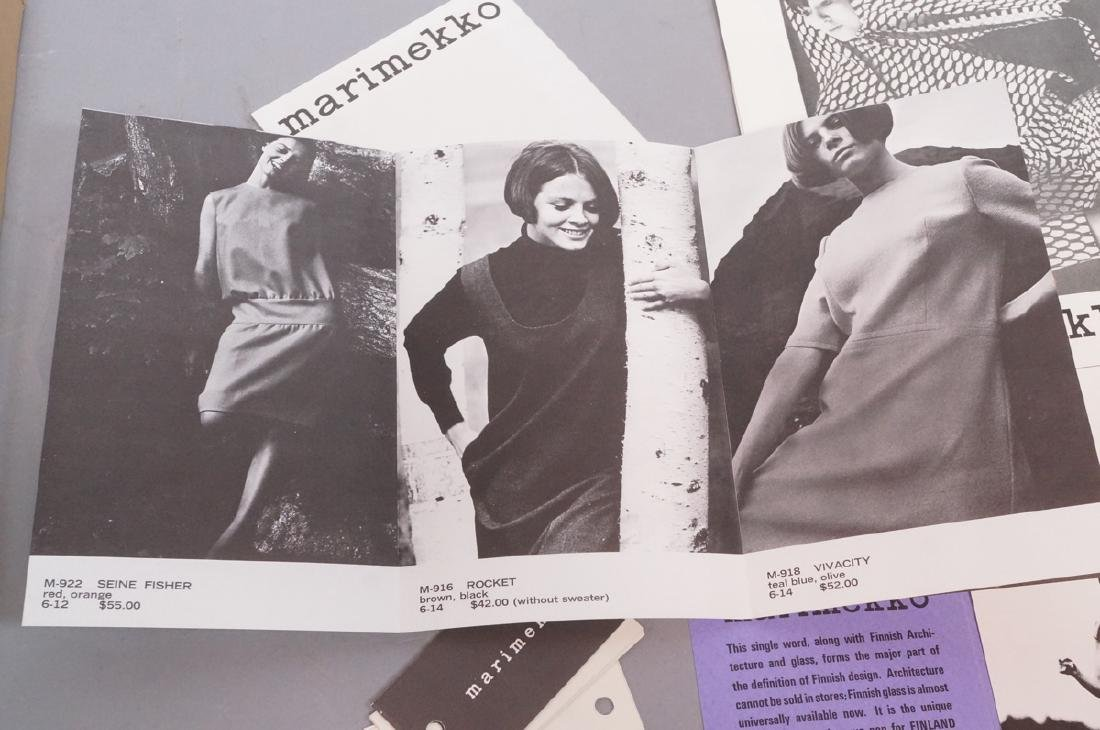 Lot Of Modern Design Ephemera. MARIMEKKO Textiles - 7