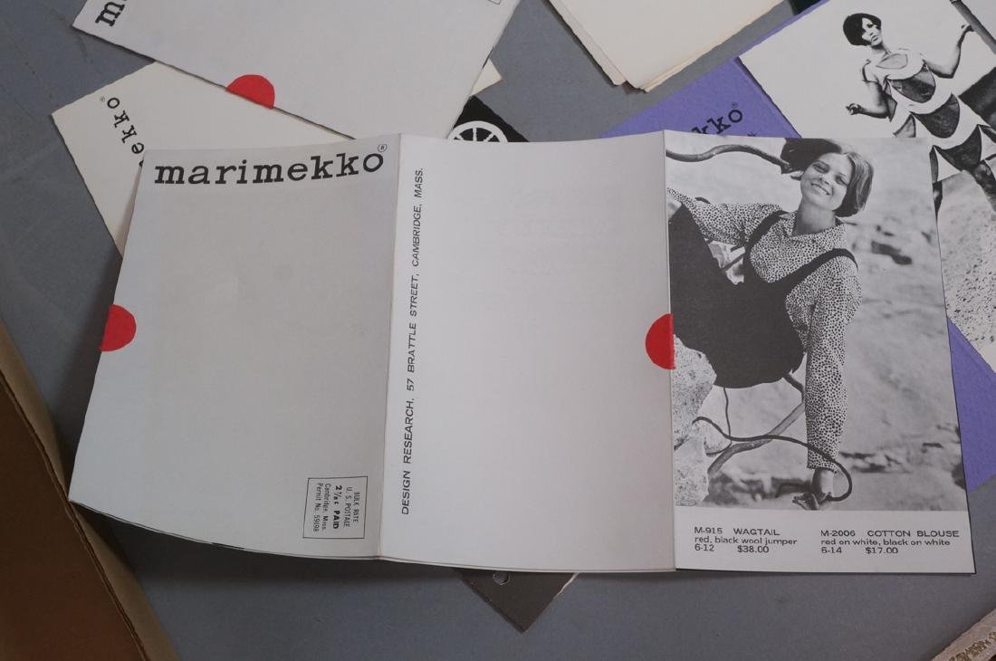 Lot Of Modern Design Ephemera. MARIMEKKO Textiles - 8