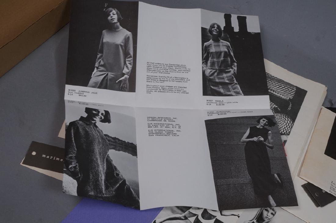 Lot Of Modern Design Ephemera. MARIMEKKO Textiles - 9