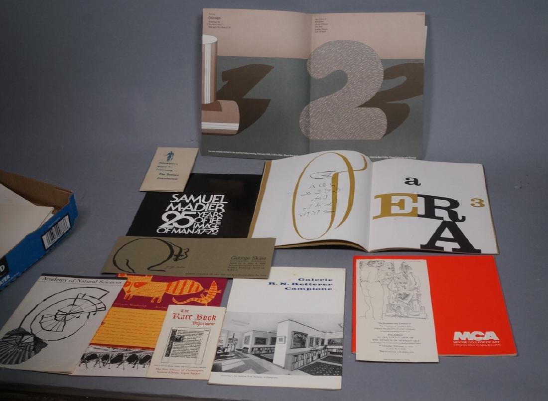 Lot Of Modern Design & Fine Arts Ephemera. Philad
