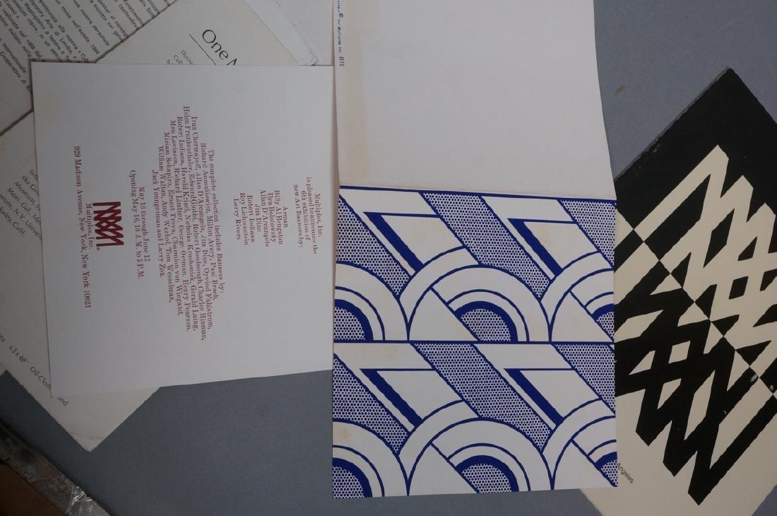 Lot Modern Design, Fine Arts Ephemera. ROY LICHTE - 7