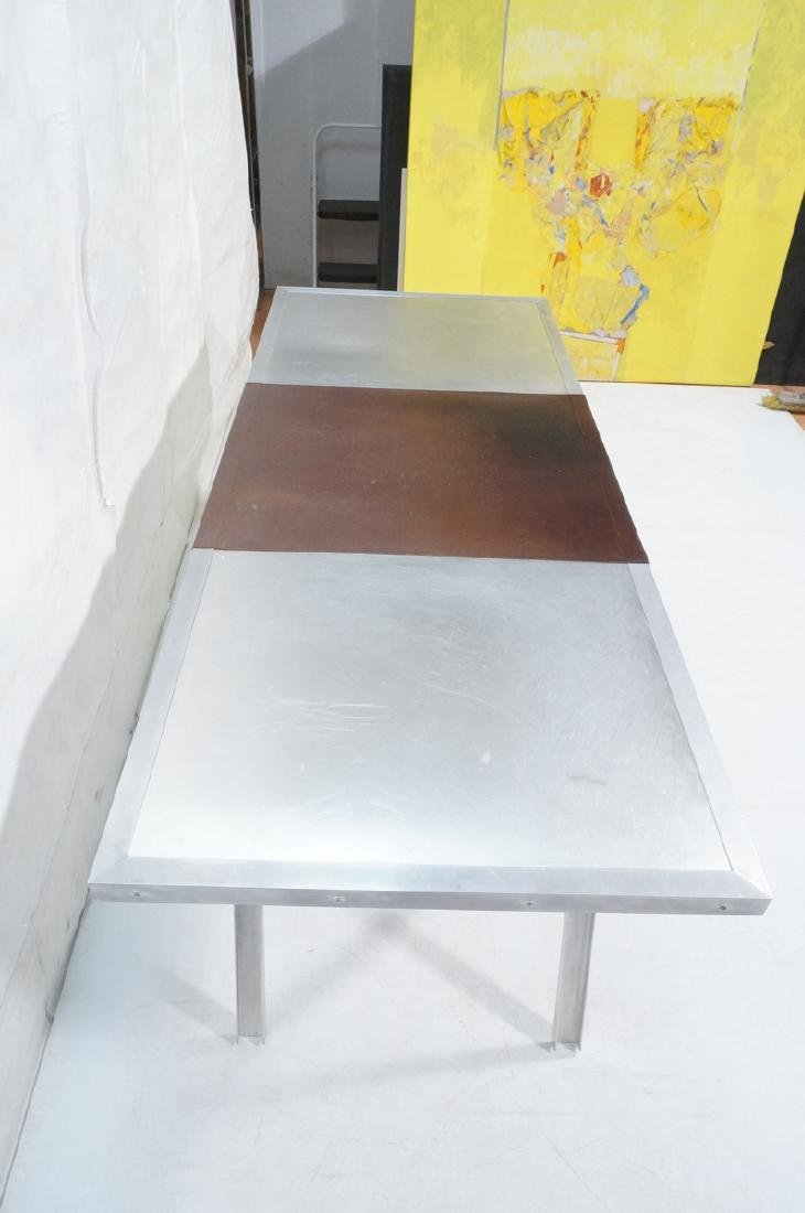 Modern Large Stainless & Aluminum Dining Table De - 4