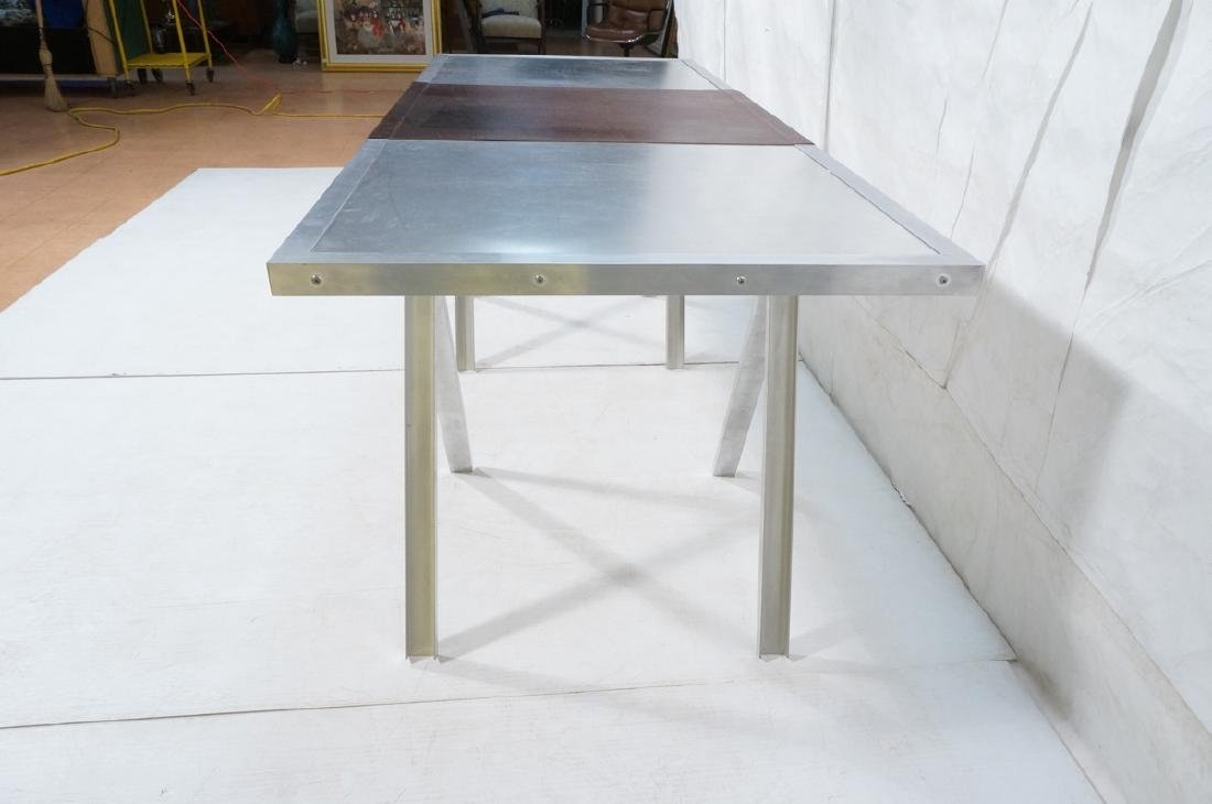 Modern Large Stainless & Aluminum Dining Table De - 5