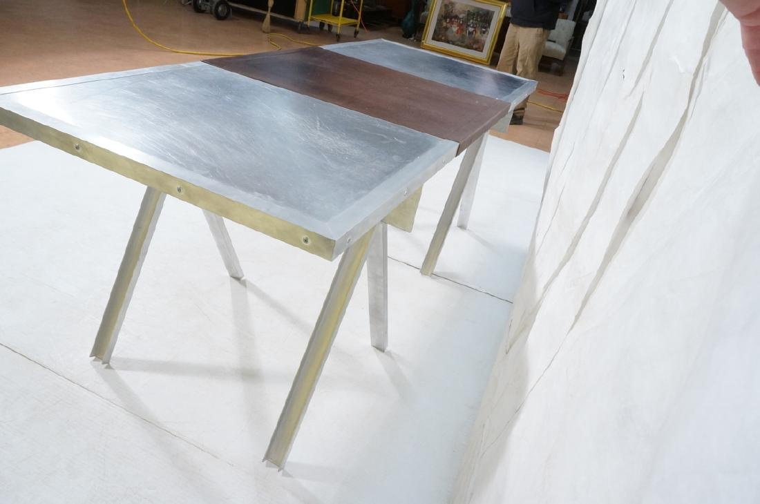 Modern Large Stainless & Aluminum Dining Table De - 6
