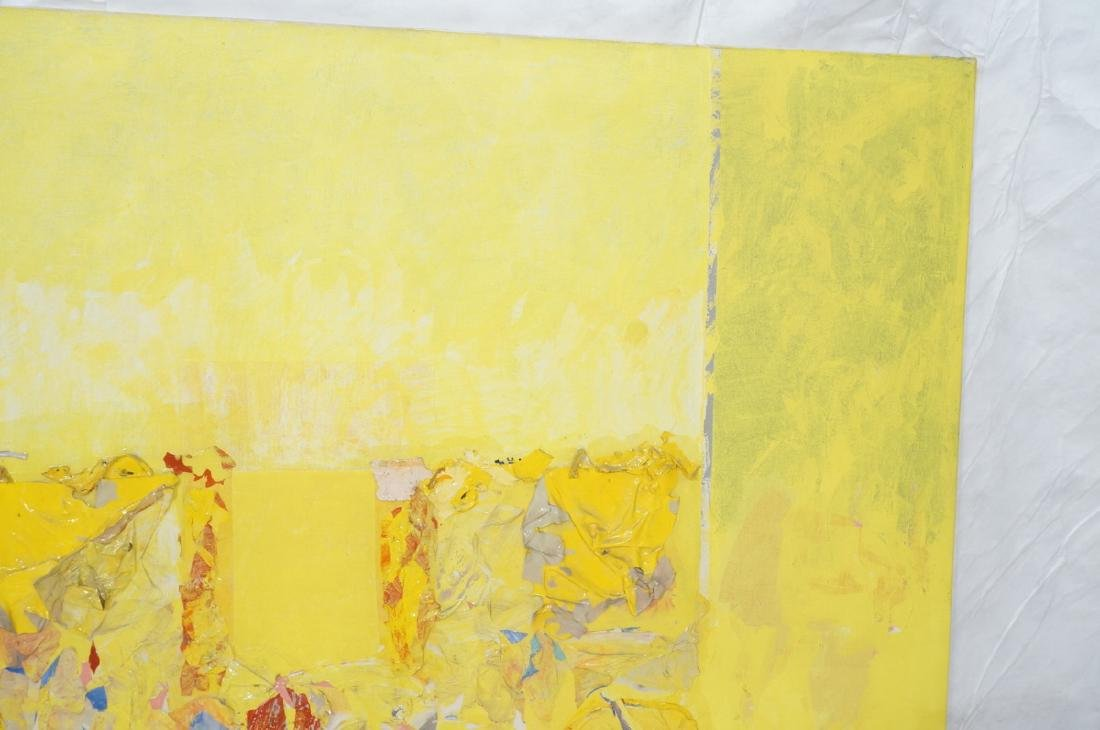 Large Modernist Abstract Yellow Oil Painting. HEC - 4