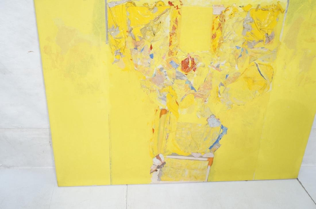 Large Modernist Abstract Yellow Oil Painting. HEC - 6