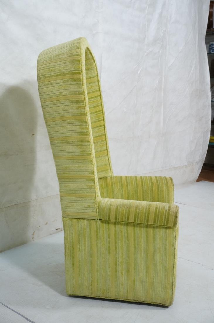 Modernist BERNHARDT Hooded Lounge Chair. Lime & Y - 7