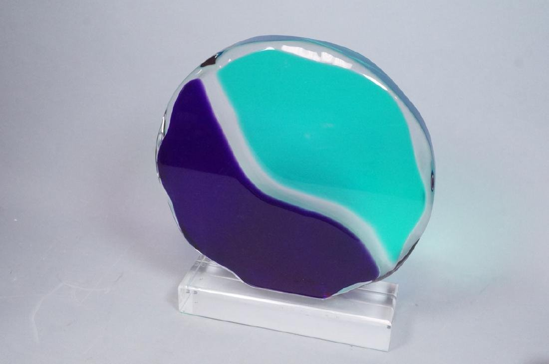 SCHLOMO HAZIZA Colored Lucite Table Sculpture. Di - 2