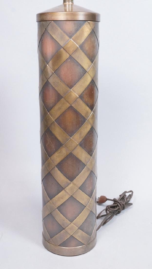 Decorator Tall Modernist Brass & Copper Table Lam
