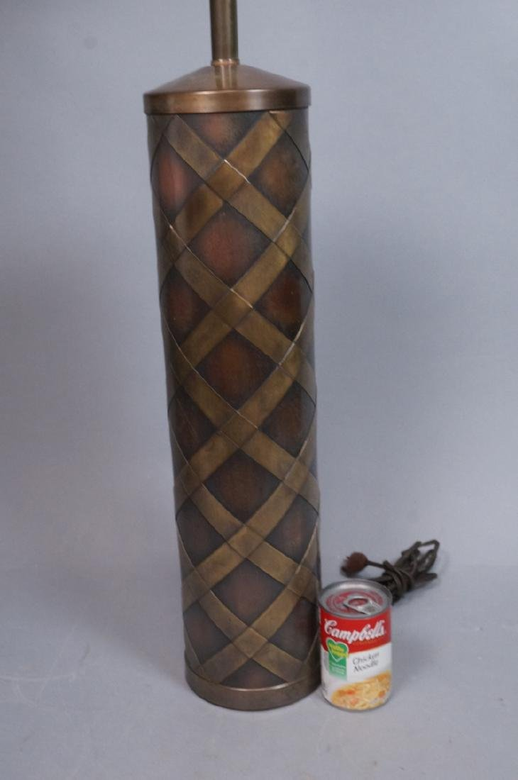 Decorator Tall Modernist Brass & Copper Table Lam - 3