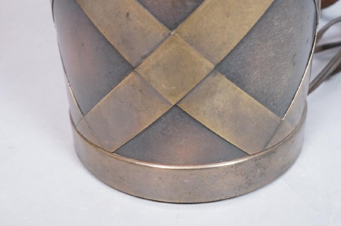 Decorator Tall Modernist Brass & Copper Table Lam - 7