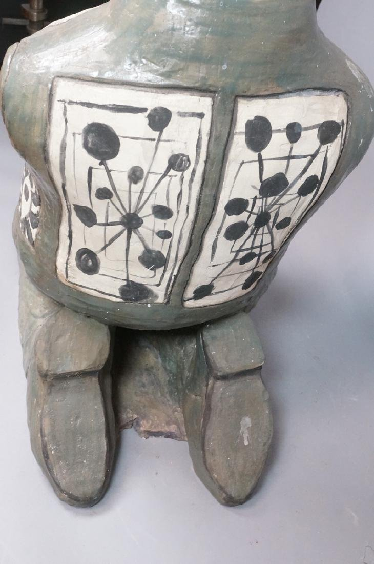 LARGE POTTERY TORSO MODERNIST SCULPTURE. Kneeling - 7