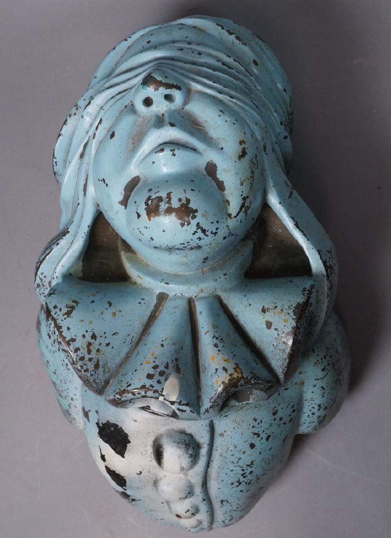 Heavy Bronze A. GRANT #3 Blindfolded Bust Sculptu