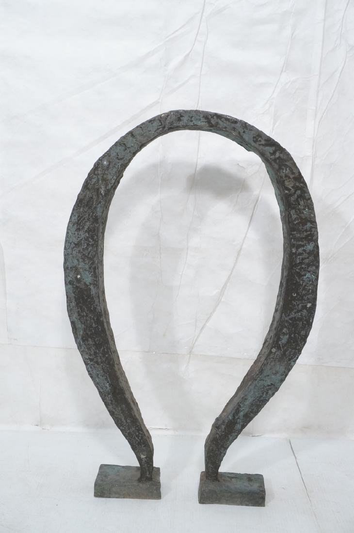 Industrial Omega Shaped Bronze Sculpture. Raw tex - 2