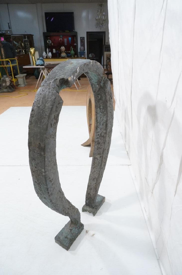 Industrial Omega Shaped Bronze Sculpture. Raw tex - 6