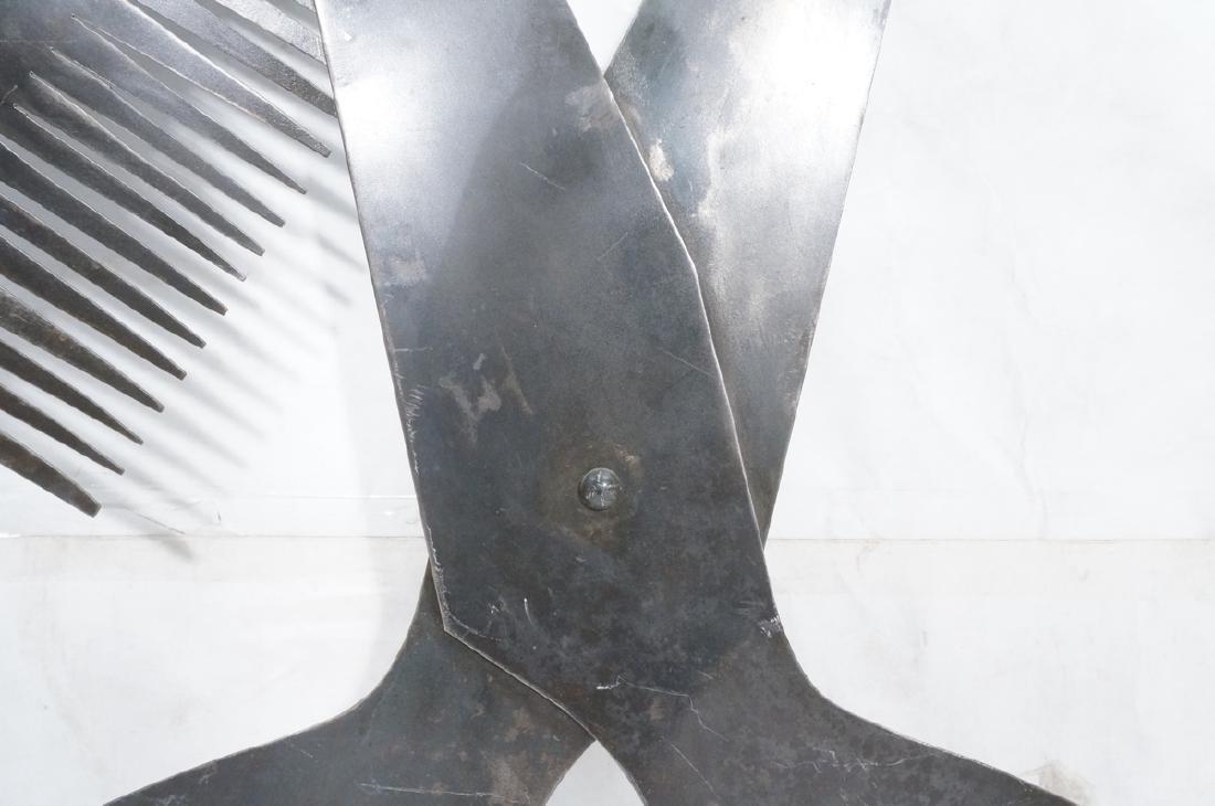 Flat Steel Figural Scissors & Comb Wall Sculpture - 5
