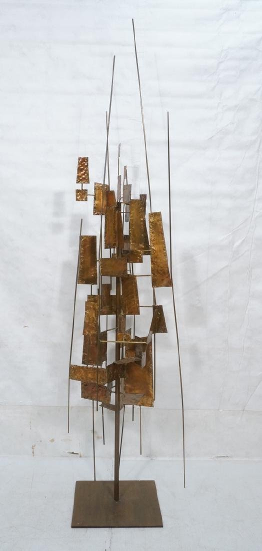 Tall Floor Sculpture. Brutalist. Rods with mixed