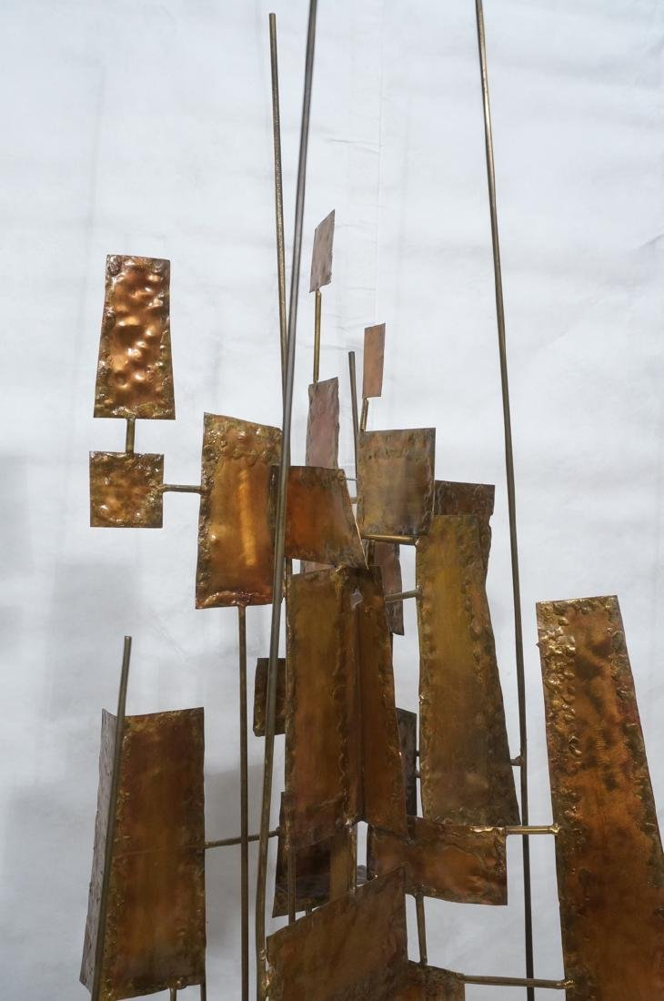Tall Floor Sculpture. Brutalist. Rods with mixed - 3