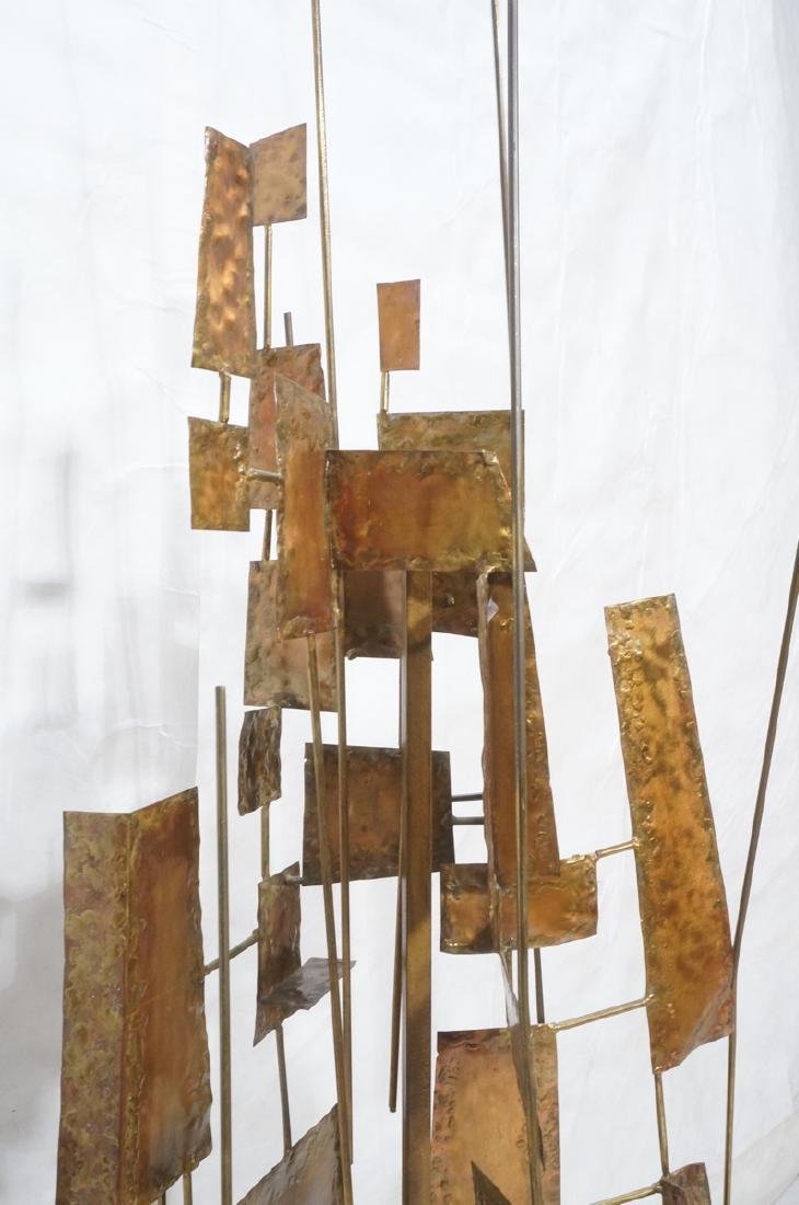 Tall Floor Sculpture. Brutalist. Rods with mixed - 4