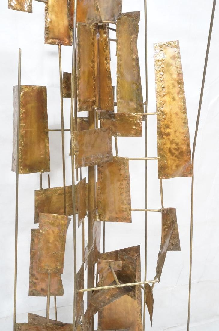 Tall Floor Sculpture. Brutalist. Rods with mixed - 6