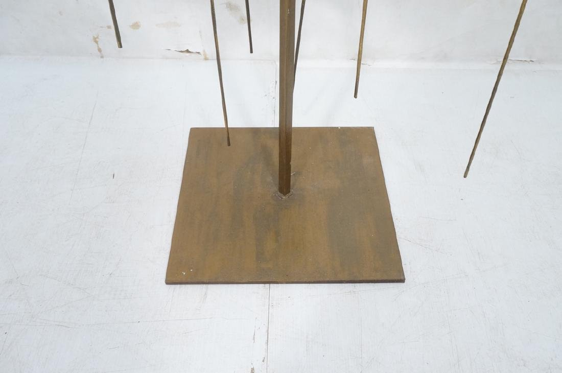 Tall Floor Sculpture. Brutalist. Rods with mixed - 7