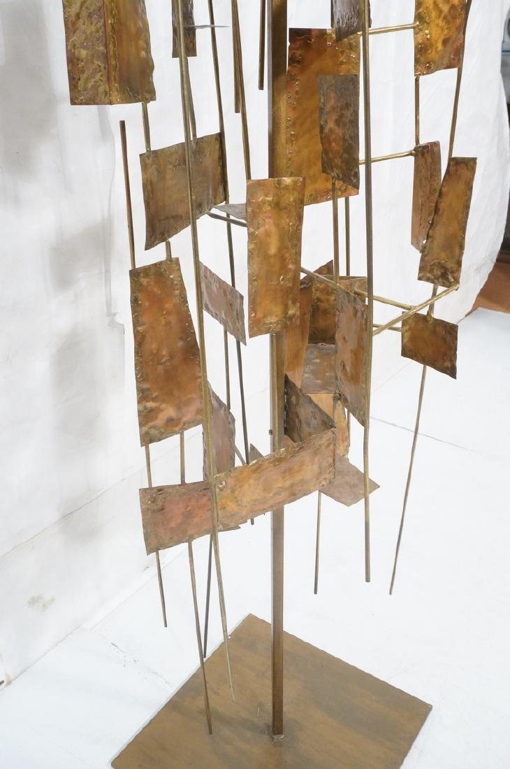 Tall Floor Sculpture. Brutalist. Rods with mixed - 8