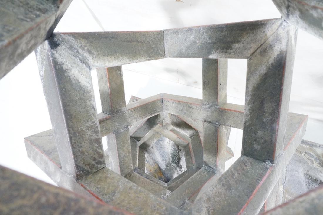 Pr Modernist Stacked Open Cube Outdoor Sculptures - 10