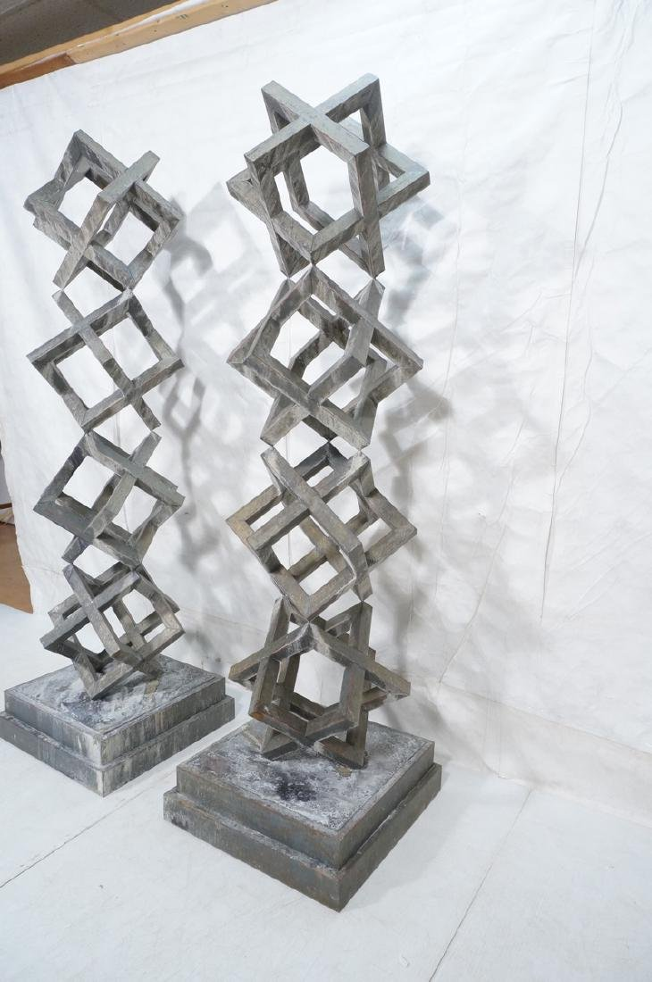 Pr Modernist Stacked Open Cube Outdoor Sculptures - 3