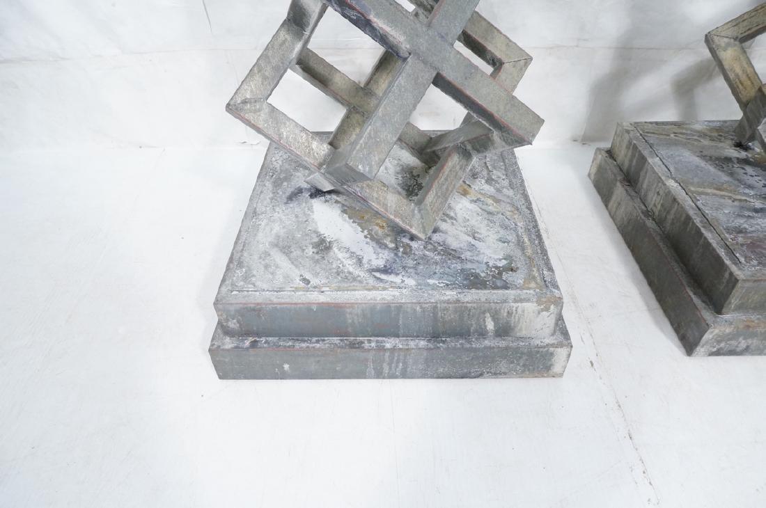 Pr Modernist Stacked Open Cube Outdoor Sculptures - 5