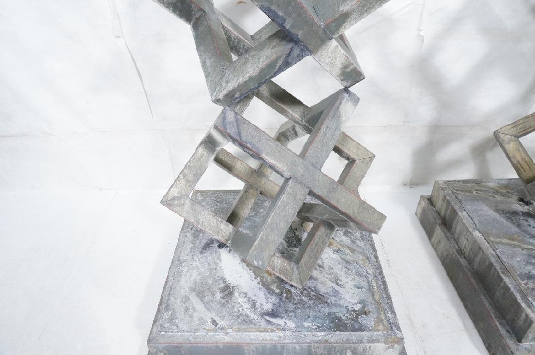 Pr Modernist Stacked Open Cube Outdoor Sculptures - 6