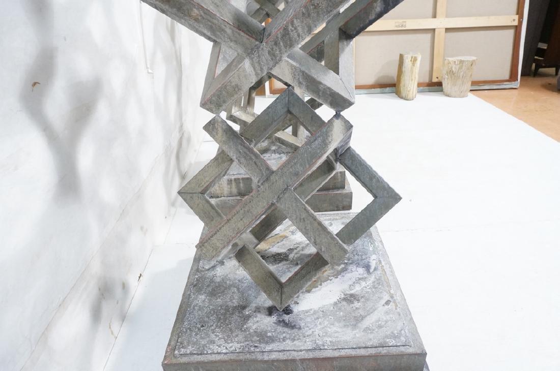 Pr Modernist Stacked Open Cube Outdoor Sculptures - 8