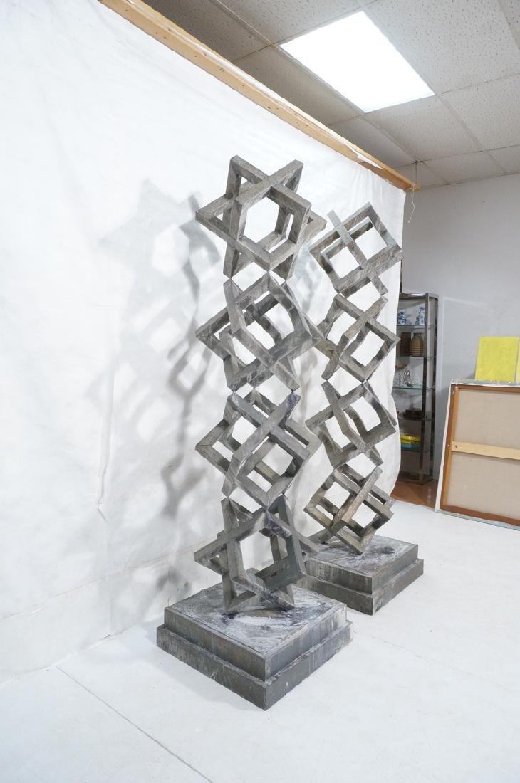 Pr Modernist Stacked Open Cube Outdoor Sculptures - 9