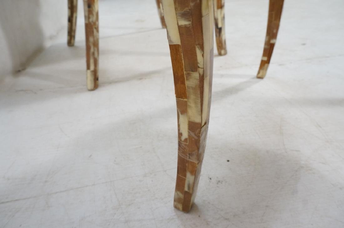 Pr Maitland Smith style Inlaid  Decorator Side Ch - 10