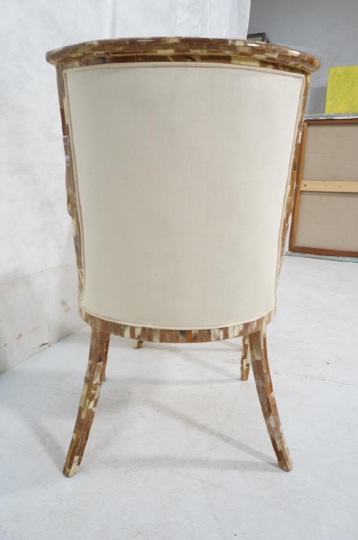 Pr Maitland Smith style Inlaid  Decorator Side Ch - 4