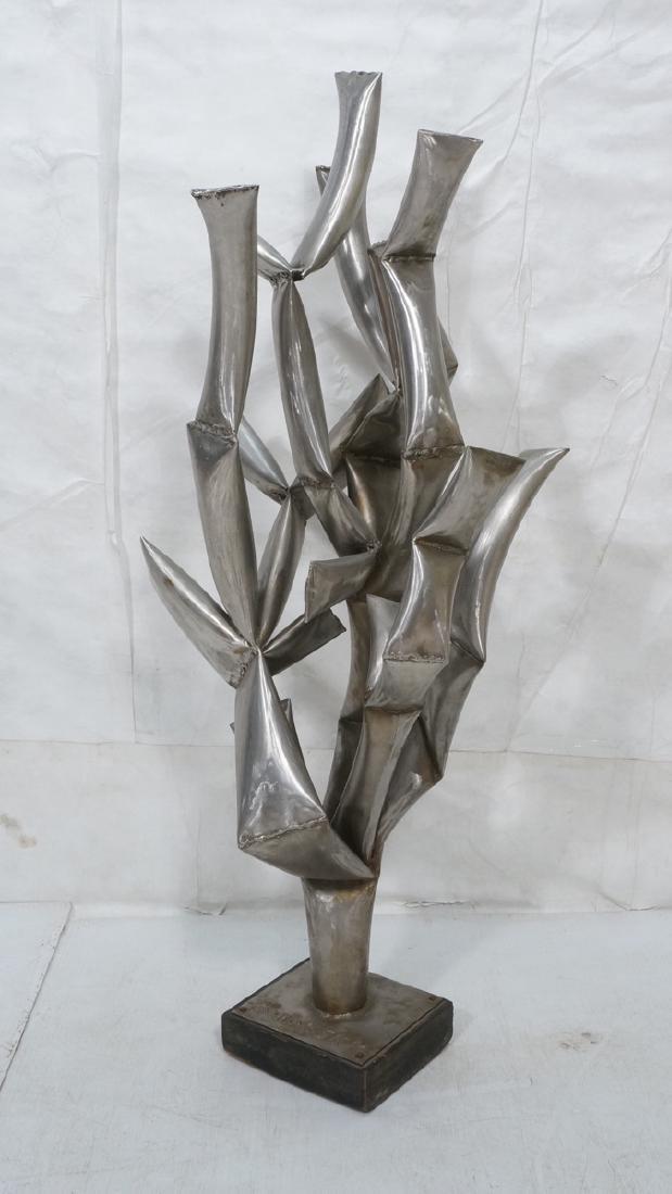ROHOSKY signed Brutalist Steel Floor Sculpture. I