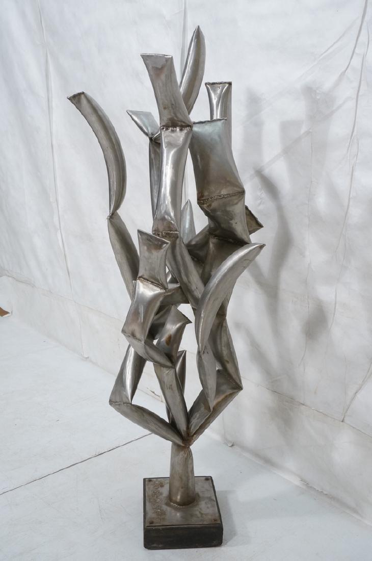 ROHOSKY signed Brutalist Steel Floor Sculpture. I - 3