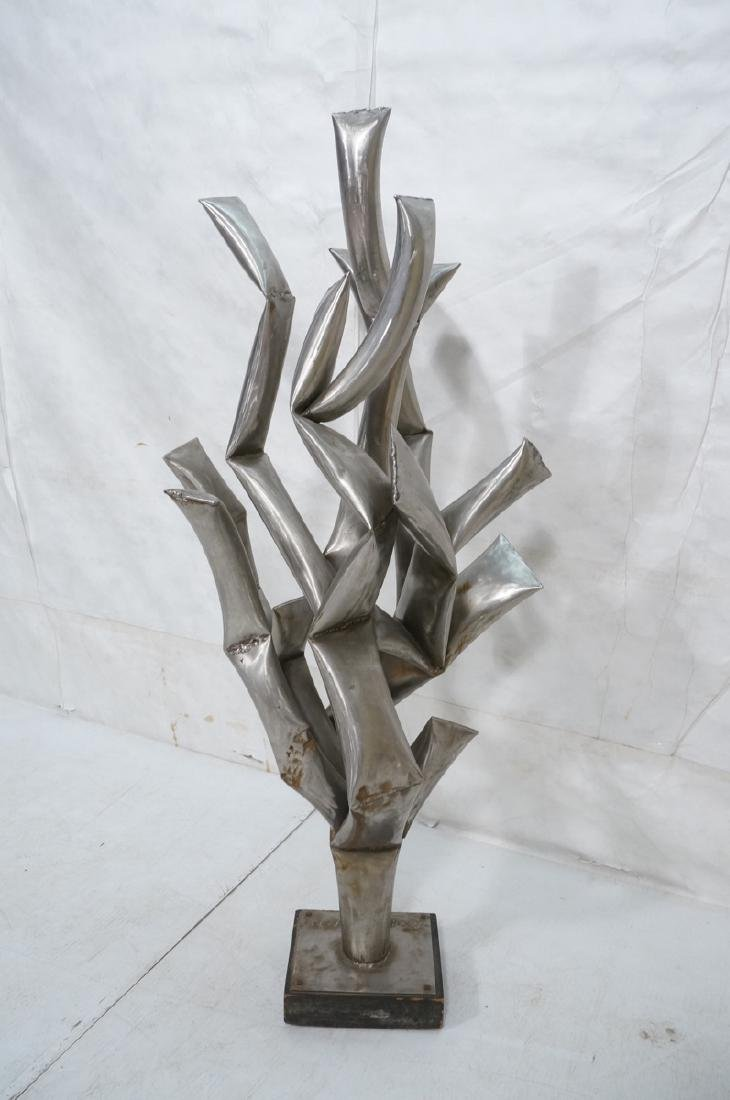 ROHOSKY signed Brutalist Steel Floor Sculpture. I - 4