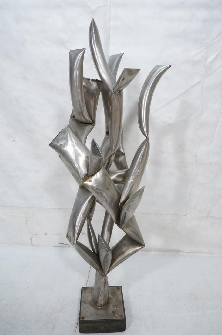 ROHOSKY signed Brutalist Steel Floor Sculpture. I - 5
