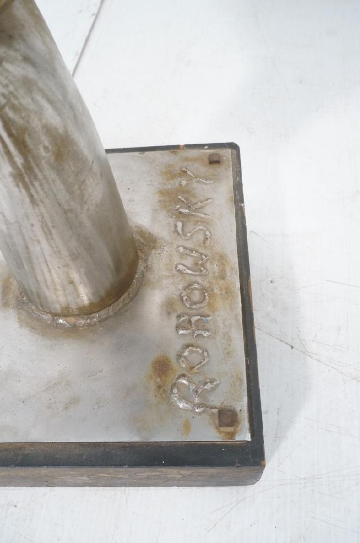 ROHOSKY signed Brutalist Steel Floor Sculpture. I - 6