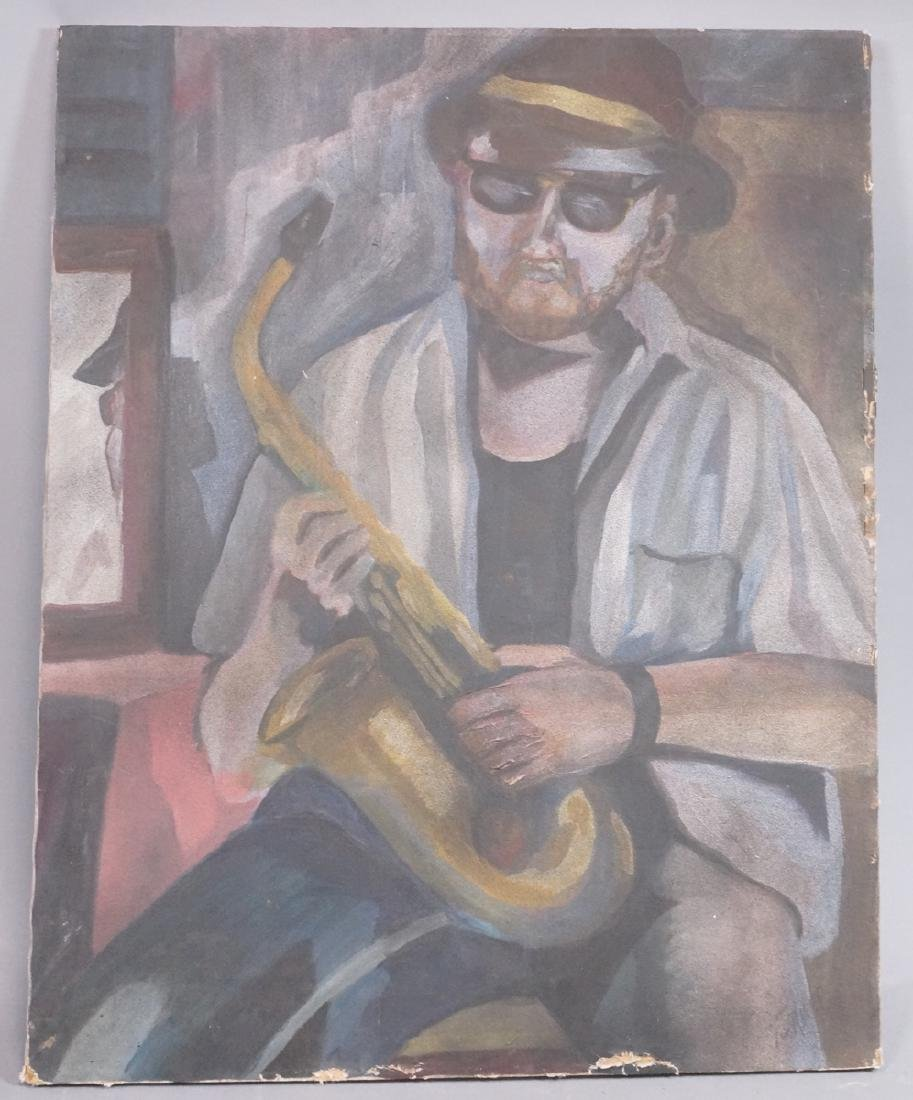 "ANDREW TURNER Oil Painting Musician. ""Jazz Man""."