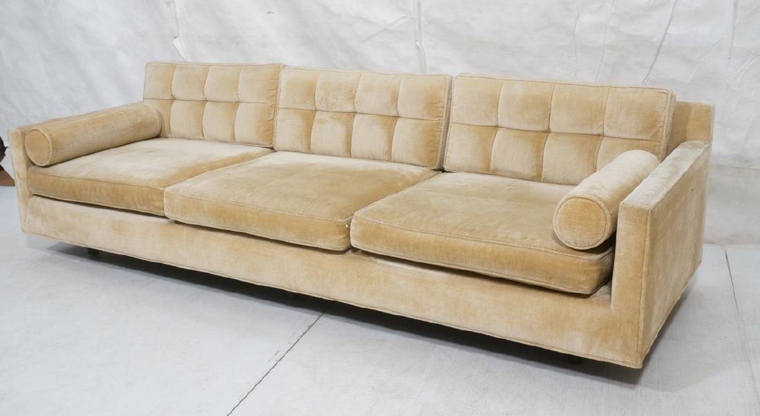 HARVEY PROBBER Modern Sofa Couch. Off White Tufte