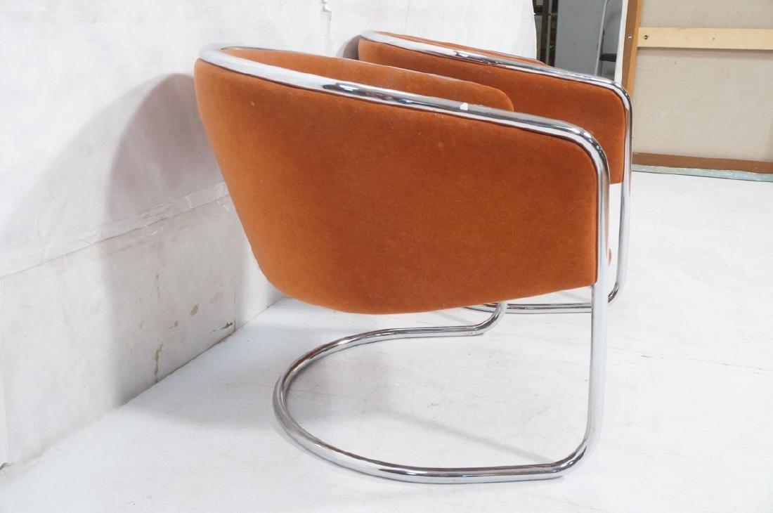 Pr THONET Chrome Tube Frame Lounge Chairs. Modern - 4