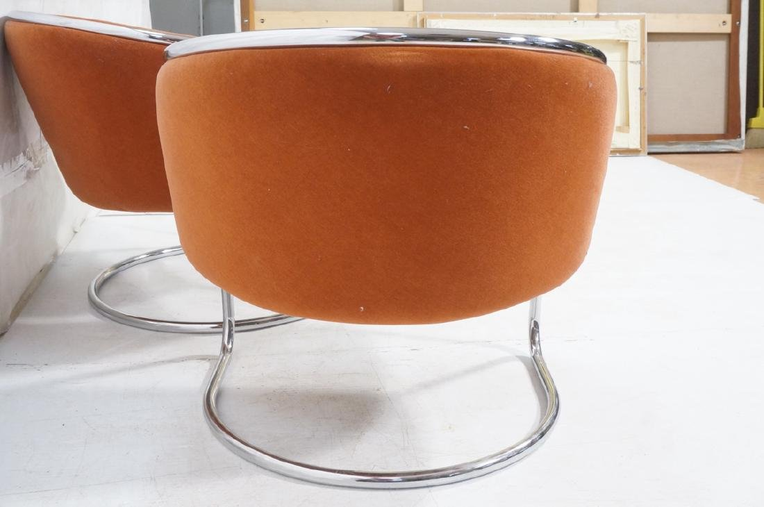 Pr THONET Chrome Tube Frame Lounge Chairs. Modern - 5