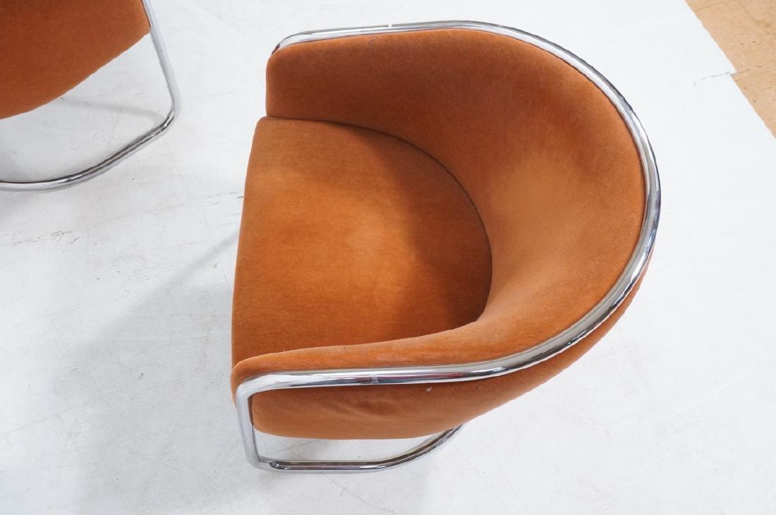 Pr THONET Chrome Tube Frame Lounge Chairs. Modern - 7
