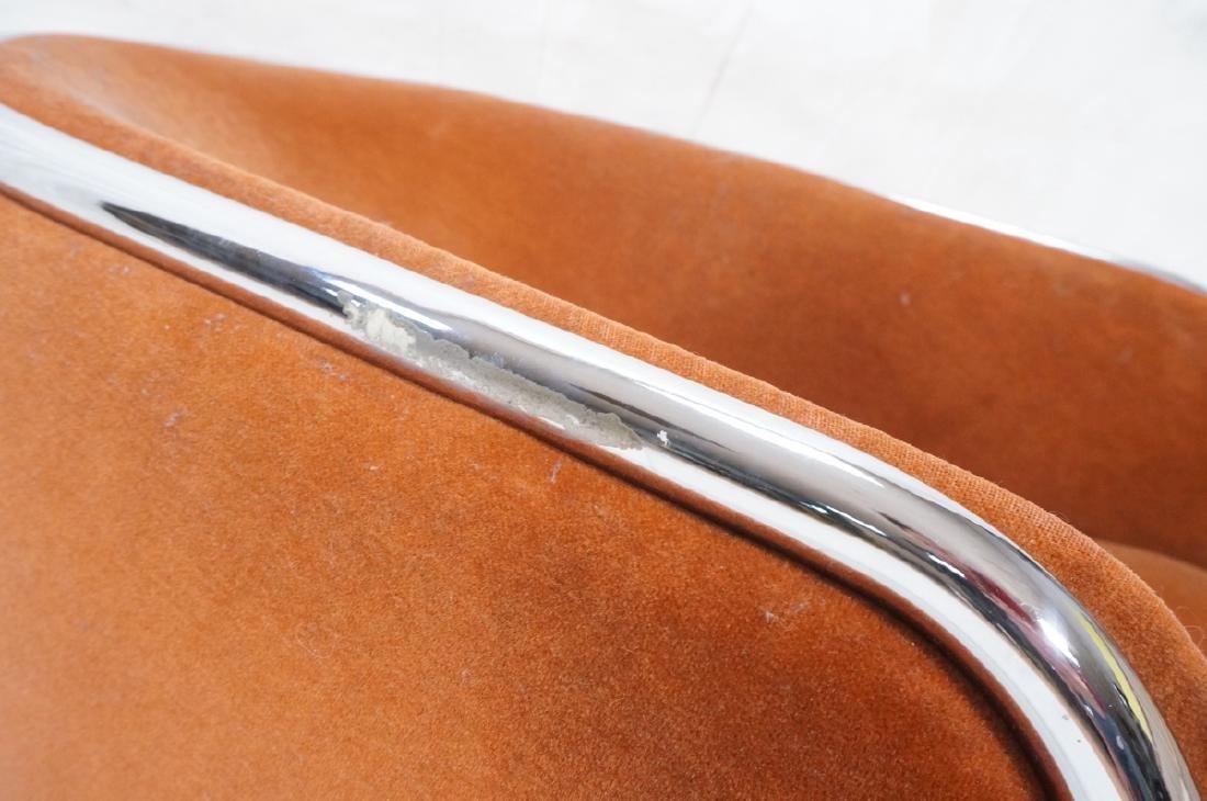 Pr THONET Chrome Tube Frame Lounge Chairs. Modern - 9