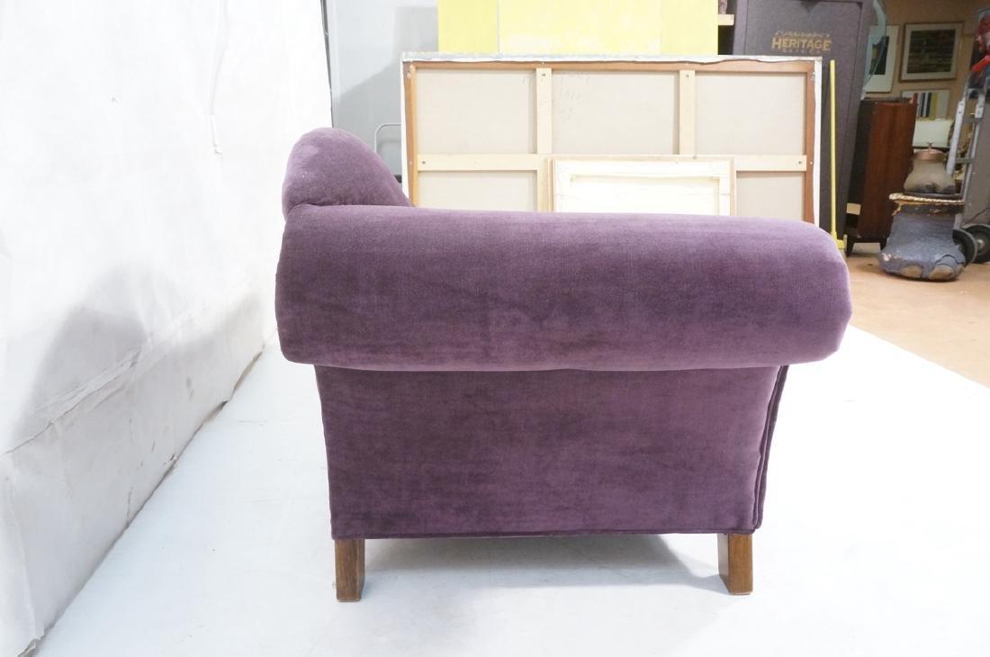 Purple Stylish Modern Chaise Lounge. Tapered wood - 3