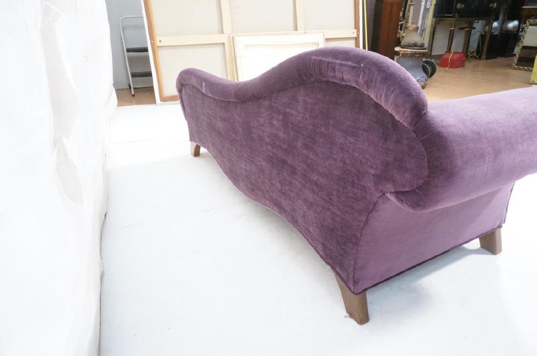 Purple Stylish Modern Chaise Lounge. Tapered wood - 4