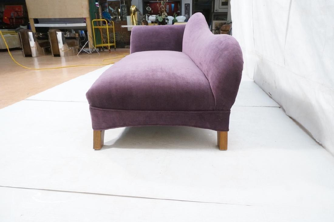 Purple Stylish Modern Chaise Lounge. Tapered wood - 5