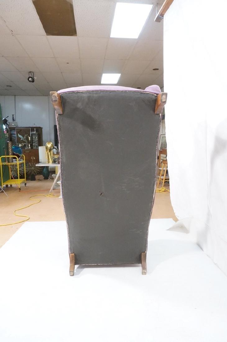 Purple Stylish Modern Chaise Lounge. Tapered wood - 6